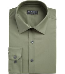 alfani men's classic/regular fit performance stretch solid dress shirt, created for macy's