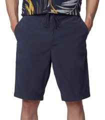 boss men's dark blue sabriel shorts