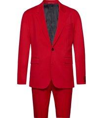ulan/farlys201f1 kostym röd hugo