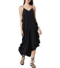 women's joie hayworth ruffle cotton dress, size large - black