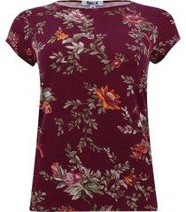 camiseta con estampado floral manga corta