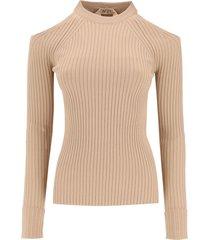 n.21 sweater open on shoulder
