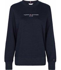 tommy hilfiger blu cotton sweatshirt