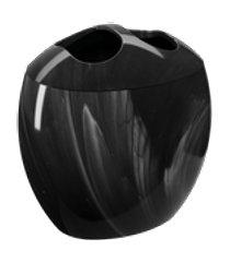 porta-escova spoom 10,6 x 8,5 x 10,6 cm mármore preto coza mármore preto coza