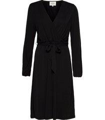 missa drape dress knälång klänning svart second female