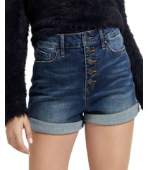 guess eco niki high-rise denim shorts