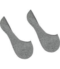 calzedonia - cotton no-show socks, 34-36, grey, women