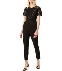 french connection viola lula lace-trim jumpsuit