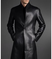 men leather coat winter long  leather coat genuine real leather trench coat-uk31