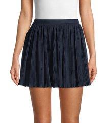 redvalentino women's pleated mini skirt - blue - size 40 (8)