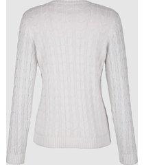 tröja med flätmönster dress in vit