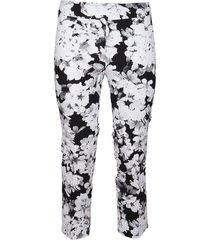 avenue montaigne multicolor viscose trousers