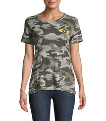 camouflage-print cotton tee