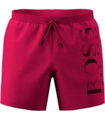 boss men's octopus logo-print swim shorts