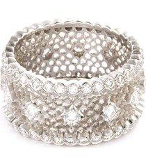 'nuovo tulle' diamond 18k white gold openwork ring