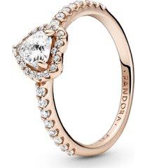 anel coração brilhante pandora rose™