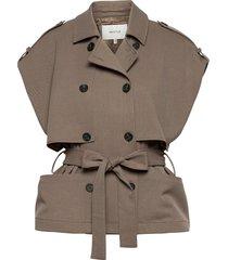 abigz waistcoat so21 vests padded vests beige gestuz