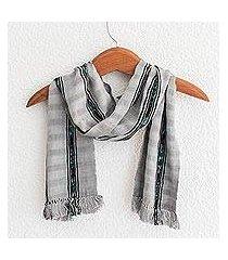 cotton scarf, 'elegant subtlety' (guatemala)