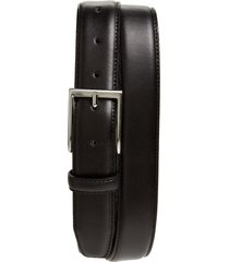 men's big & tall nordstrom men's shop jayden leather belt, size 46 - black