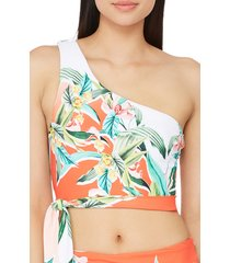 women's trina turk costa de prata reversible one-shoulder bikini top