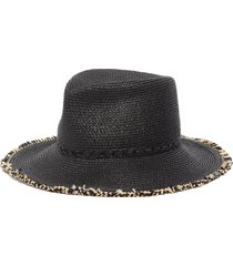 'mykonos' fringed fedora hat