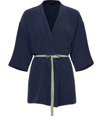 sasha kimono morgonrock blå lulu's drawer