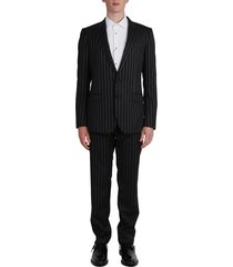 dolce & gabbana pinstriped suit