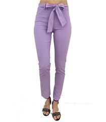 pantalón violeta odas lazo