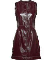patent dress korte jurk rood ganni