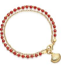 braccialetti con perline della boemia braccialetti con ciondoli semplici a forma di conchiglia per donne