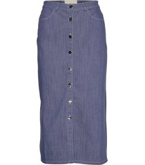 morrison knälång kjol blå stig p