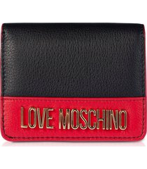 love moschino color block genuine leather small womens wallet