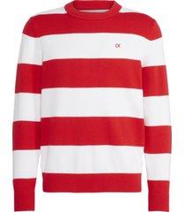 ckj stripes cotton sweater rojo calvin klein