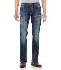 buffalo david bitton men's driven slim straight-leg contrast vintage jeans - indigo - size 44 30