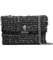 kurt geiger london tweed kensington shoulder bag - black