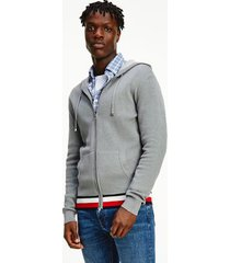 tommy hilfiger men's organic cotton hoodie sweater iron grey - s