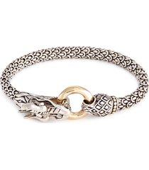 18k yellow gold silver scaly dragon bracelet
