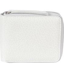 maison margiela stitched logo zip-around wallet