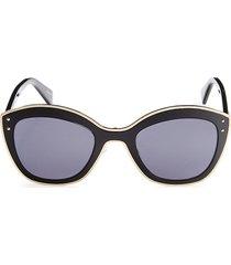 moschino women's 51mm cat eye sunglasses - black