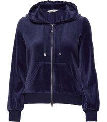 velouragenius hood jacket hoodie blå odd molly