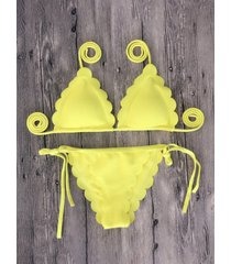 costumi da bagno per bikini sexy colore puro e forte elasticità per le donne
