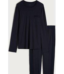 pigiama lungo in cotone supima® basic