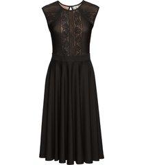 abito in maglina con pizzo (nero) - bodyflirt boutique