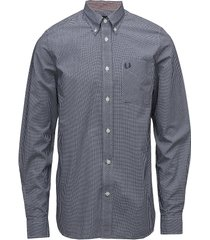 classic gingham shirt skjorta business blå fred perry