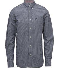 classic gingham shirt skjorta business blå fred perry