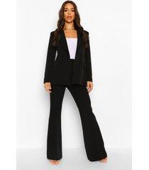 getailleerde broek met wijd uitlopende pijpen, black