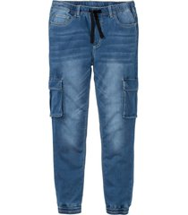 jeans termici superstretch slim fit straight (blu) - rainbow