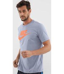 camiseta nike sportswear nsw tee icon futu azul - kanui
