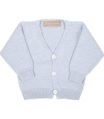 la stupenderia light blue cardigan for babyboy
