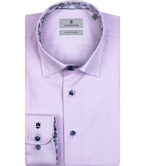 thomas maine overhemd lila contrast hidden button down tailored fit